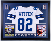 Jason Witten Signed Dallas Cowboys 35x43 Custom Framed Jersey (Witten Hologram) at PristineAuction.com