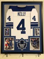 "Red Kelly Signed Toronto Maple Leafs 34x42 Custom Framed Jersey Inscribed ""HOF 69"" (JSA COA)"