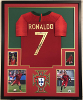 Christian Ronaldo Signed Portugal 35x43 Custom Framed Jersey (Beckett COA)