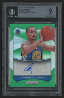 2014-15 Panini Prizm Autographs Green #59 Stephen Curry (BGS 9)