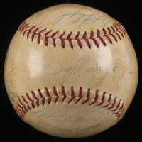 1958 Pirates ONL Baseball Team-Signed by (24) with Roberto Clemente, Bob Friend, Bill Mazeroski (JSA ALOA)