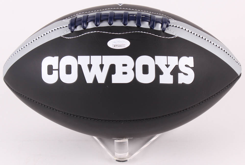 803edfd7000 Roger Staubach Signed Dallas Cowboys Logo Football (JSA COA) at  PristineAuction.com