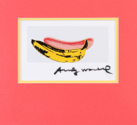 "Andy Warhol Signed ""Banana"" 9.75x10.25 Custom Matte Photo Display (JSA ALOA)"