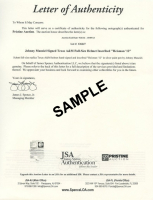 "Andy Warhol Signed ""Banana"" 9.75x10.25 Custom Matte Photo Display (JSA ALOA) at PristineAuction.com"