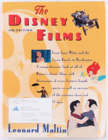 "Leonard Maltin Signed ""The Disney Films, 3rd Edition"" Softcover Book (JSA COA)"