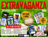 """EXTRAVAGANZA BOX - 2019 Baseball Edition"" Mystery Box - 20+ Items Per Box!"