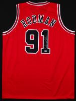 Dennis Rodman Signed Chicago Bulls Jersey (Beckett COA)