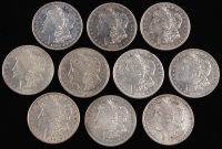 Lot of (10) Morgan Silver Dollars at PristineAuction.com