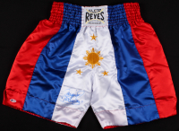 "Manny Pacquiao Signed Boxing Shorts Inscribed ""Pacman"" (Beckett COA)"
