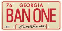"Burt Reynolds Signed ""Smokey and the Bandit"" Georgia License Plate (Beckett COA)"