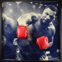 "Mike Tyson Signed ""Breaking Through"" 42x42 Custom Framed Limited Edition Photo Display (UDA COA)"