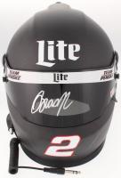 Brad Keselowski Signed 2018 NASCAR Miller Lite Full-Size Helmet (PA COA)