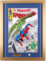 """""""The Amazing Spider-Man"""" 18x24 Custom Framed Print Display with Vintge Pin"""
