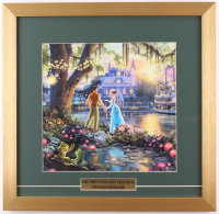 "Thomas Kinkade Walt Disney's ""The Princess and the Frog"" 17.5x18 Custom Framed Print"