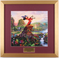 "Thomas Kinkade Walt Disney's ""Mickey Mouse: Painter of Light"" 17.5x18 Custom Framed Print"