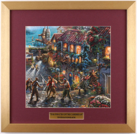 "Thomas Kinkade Walt Disney's ""Pirates of the Caribbean"" 17.5x18 Custom Framed Print Display"