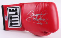 "Manny Pacquiao Signed Title Boxing Glove Inscribed "" ""Pacman"" "" (Beckett COA)"
