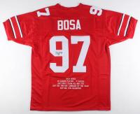 Nick Bosa Signed Career Highlight Stat Jersey (JSA COA) at PristineAuction.com