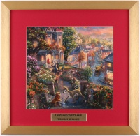 "Thomas Kinkade Walt Disney's ""Lady And The Tramp"" 17.5x18 Custom Framed Print Display"