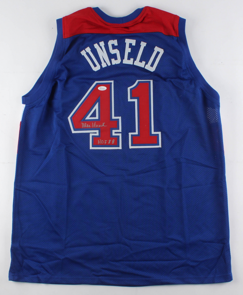 db2a1191d7a9 Wes Unseld Signed Washington Bullets Jersey Inscribed