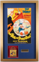 Vintage 1940's Walt Disney's Donald Duck 17.5x28 Custom Framed Film Reel Display