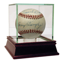 1954 New York Yankees OAL Baseball Team-Signed by (18) with Mickey Mantle, Yogi Berra, Phil Rizzuto & High Quality Display Case (JSA LOA)