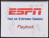 ESPN 'Not So Extreme Games' Playbook Signed by (4) with Joe Namath, Walt Frazier, Cliff Drysdale, & Dot Richardson (JSA COA)