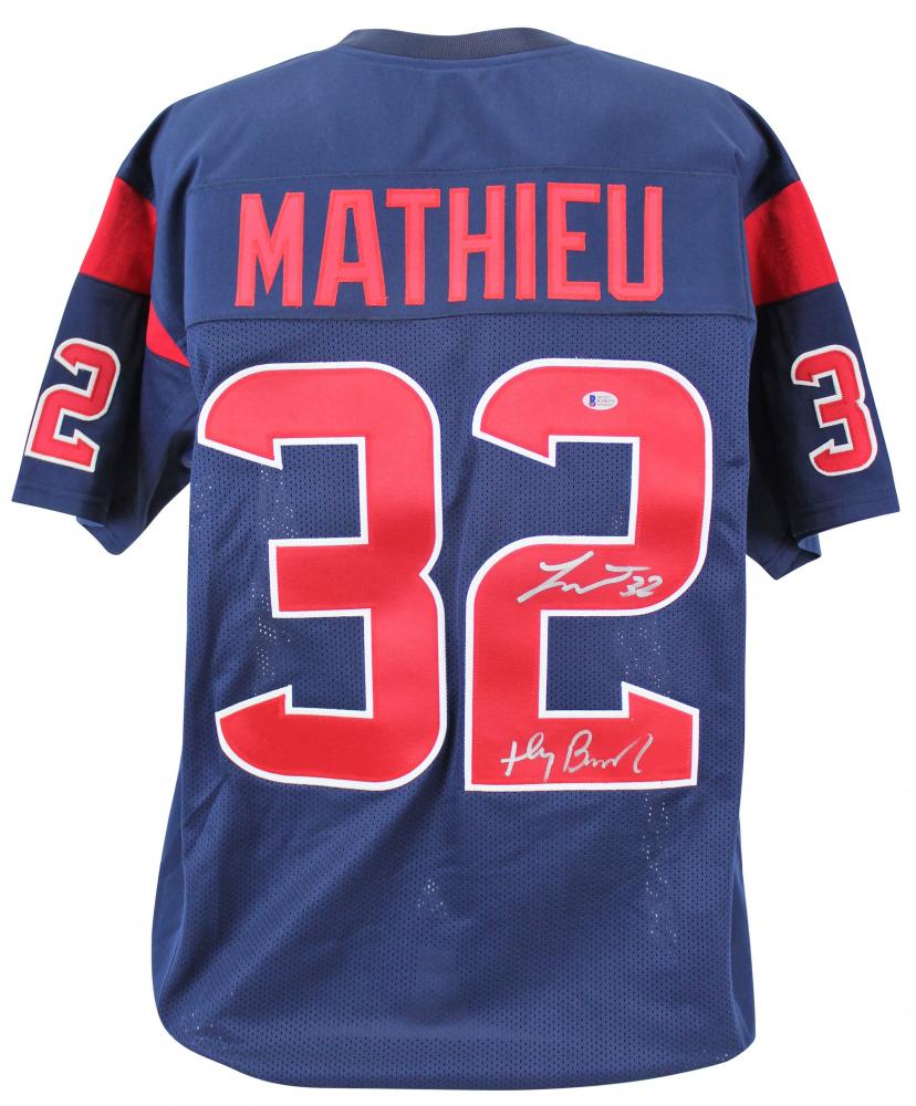 4bc313f38 Tyrann Mathieu Signed Houston Texans Jersey Inscribed