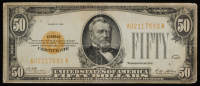 1928 $50 Fifty Dollars U.S. Gold Certificate Currency Bank Note Bill