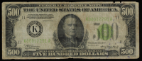 1934 $500 Five Hundred Dollars Federal Reserve Note at PristineAuction.com