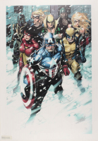 """Stan Lee Signed LE """"Free Comic Book Day 2009 Avengers #1"""" Limited Edition 18"""" x 27"""" Giclee on Canvas #15/99"""