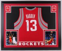 James Harden Signed Houston Rockets 35x43 Custom Framed Jersey (Beckett COA)