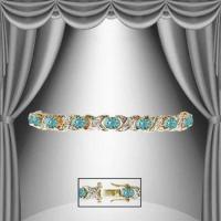 13.29 CT Swiss Blue Topaz & Diamond Designer Bracelet