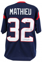 "Tyrann Mathieu Signed Houston Texans Jersey Inscribed ""Honey Badger"" (Beckett COA) at PristineAuction.com"
