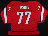 "T. J. Oshie Signed Washington Capitals Jersey Inscribed ""2018 SC Champs"" (Beckett Hologram)"