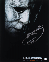 """James Jude Courtney Signed """"Halloween"""" 16x20 Photo Inscribed """"Michael Myers 2018"""" (JSA COA) at PristineAuction.com"""