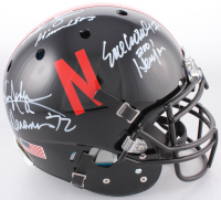 "Mike Rozier, Johnny Rodgers, & Eric Crouch Signed Nebraska Cornhuskers Full-Size Authentic On-Field Helmet Inscribed ""Heisman 83"", ""Heisman '72"", & ""2001 Heisman"" (JSA COA)"