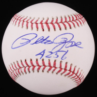 "Pete Rose Signed OML Baseball Inscribed ""4256"" (JSA COA)"