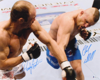 Chuck Liddell & Randy Couture Signed UFC 16x20 Photo (Beckett COA)