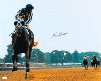 Ron Turcotte Signed 16x20 Photo with Secretariat (JSA COA) at PristineAuction.com