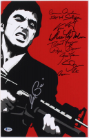 """Scarface"" 11x17 Photo Signed by (10) with Al Pacino, Robert Loggia, Steven Bauer, Miriam Colon (Beckett LOA)"