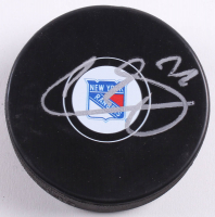 Filip Chytil Signed New York Rangers Logo Hockey Puck (Beckett COA)