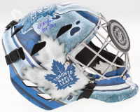 "Ed Belfour Signed Toronto Maple Leafs Full-Size Goalie Helmet Inscribed ""HOF 2011"" (Schwartz COA)"