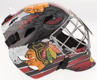 Ed Belfour Signed Chicago Blackhawks Full-Size Goalie Helmet (Schwartz COA)