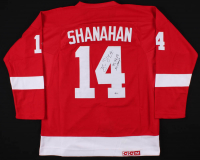 "Brendan Shanahan Signed Detroit Red Wings Captain Jersey Inscribed ""97, 98, 02 SC Champs"" (Beckett COA)"
