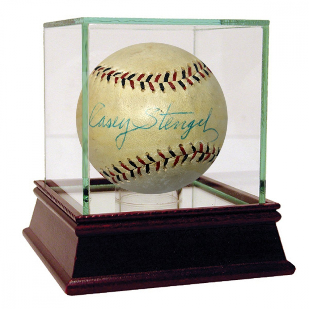Casey Stengel Signed Baseball with High Quality Display Case (JSA Hologram) at PristineAuction.com