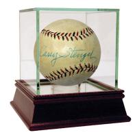 Casey Stengel Signed Baseball with High Quality Display Case (JSA Hologram)