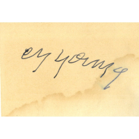 Cy Young Signed 2.5x3.5 Cut (Beckett Hologram)