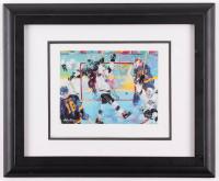 "Leroy Neiman ""Gretzky's Goal"" 14x17 Custom Framed Print Display"
