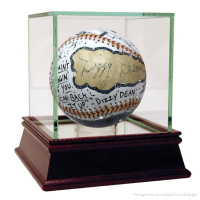 Dizzy Dean Signed Baseball Hand-Painted by Charles Fazzino with High Quality Display Case (Beckett COA)